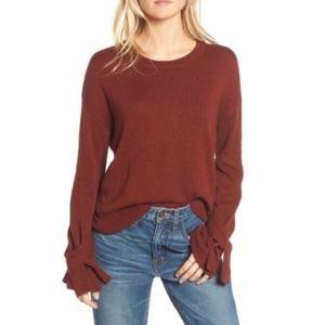 Madewell Sleeve-Tie Crewneck Sweater